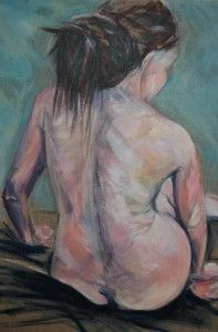 Female nude seated