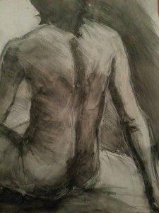 graphite, black, water, paper, A1
