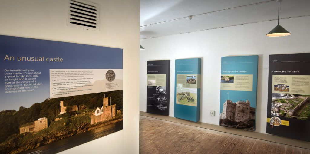 New panels throughout the Castle tell the story of Dartmouth's past © English Heritage