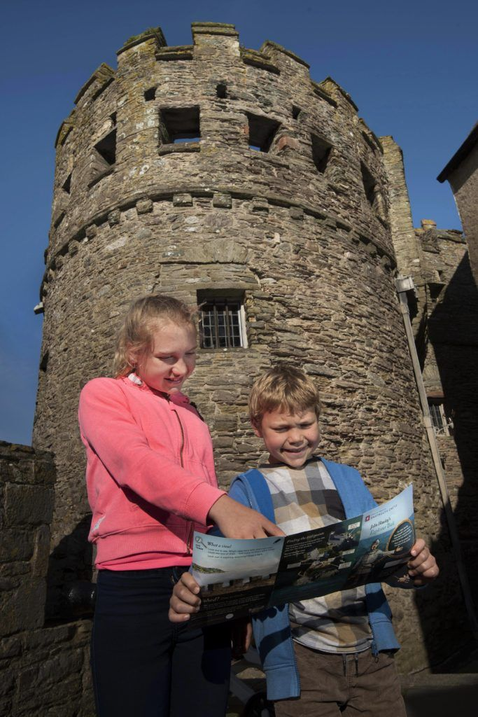 Young visitors enjoy the new explorer trail. © English Heritage