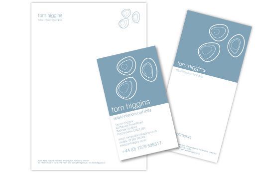 Tom Higgins stationery