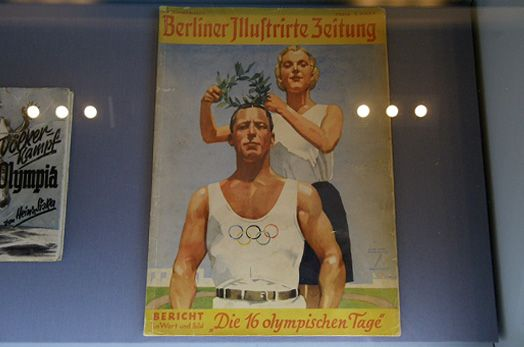 One of the publications displayed in the Nazi Games exhibition