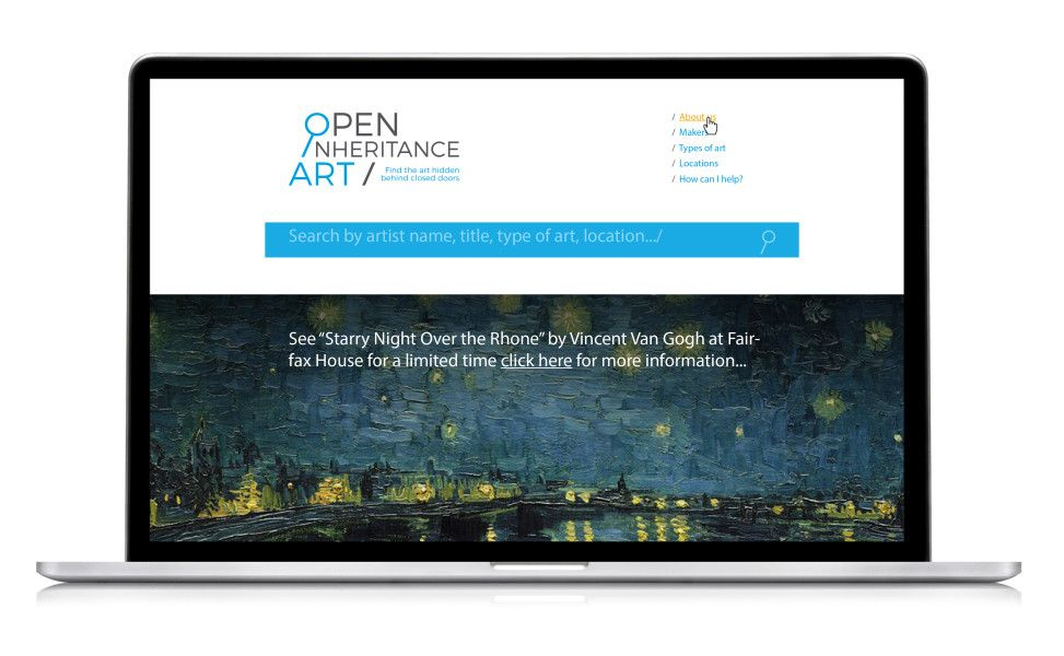 Open Interitance Art branding and website
