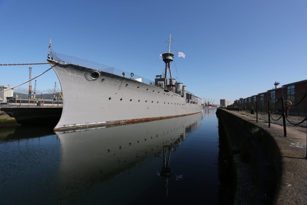HMS Caroline in Belfast docks