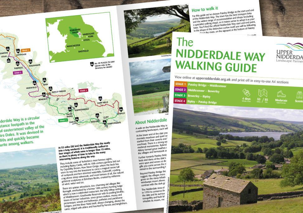 Design of a series of walking guides for Upper Nidderdale Landscape Partnership