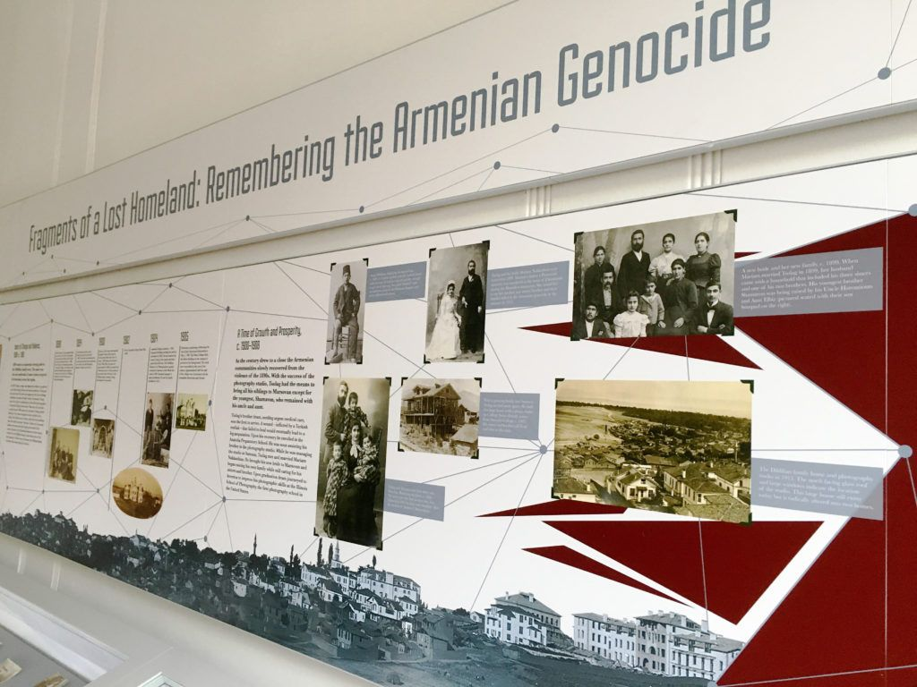 Remembering the Armenian Genocide. Family connections are explored with the use of connecting lines and fragments