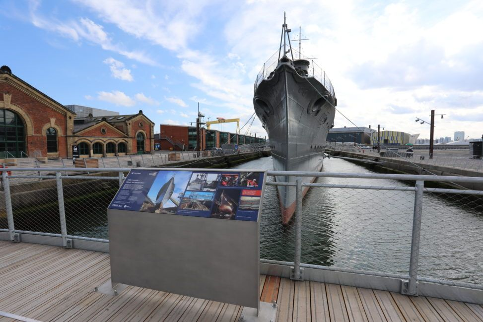 2D interpretive design at HMS Caroline, Belfast (image © Jef Maytom for Petrichor)