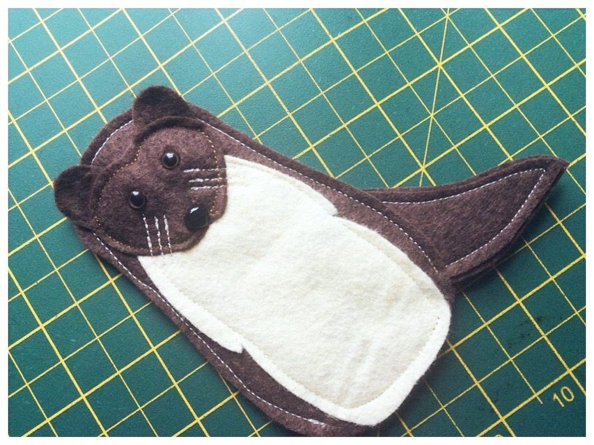 Sammy the Stoat finger puppet for the Explorer Pack, designed and made by The Big Forest