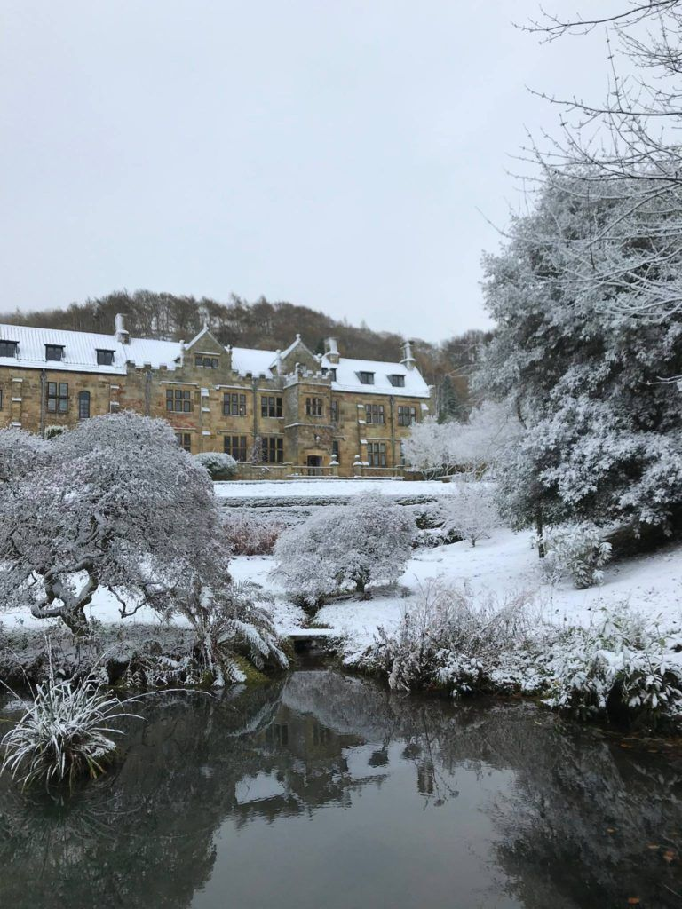 Mount Grace Priory on a chilly winter site visit