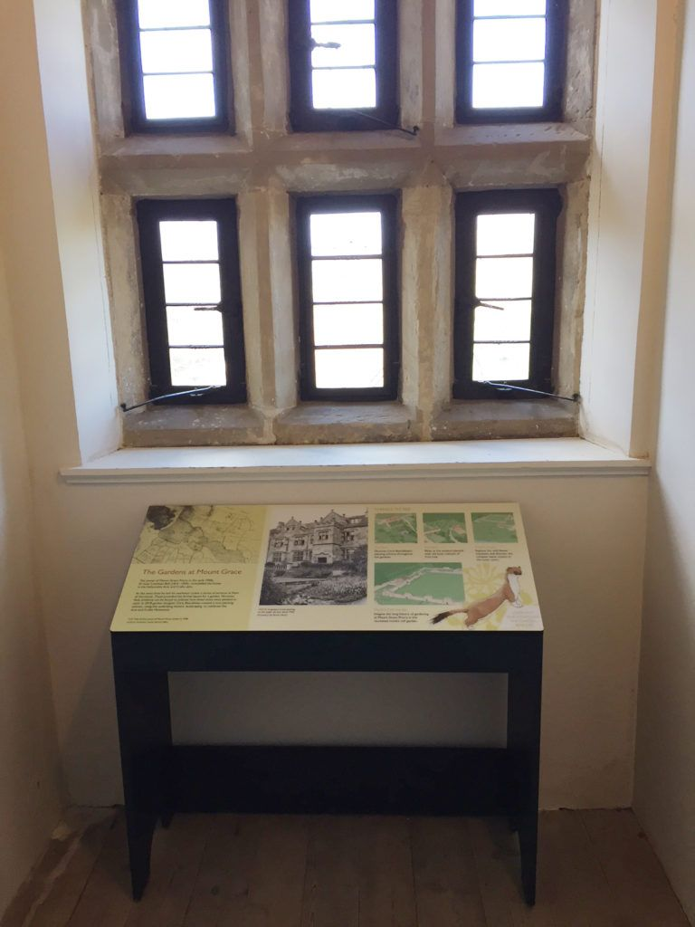 Interpretation panel and lectern in the house