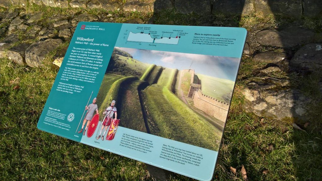 Panel at Willowford, Hadrian's Wall © English Heritage