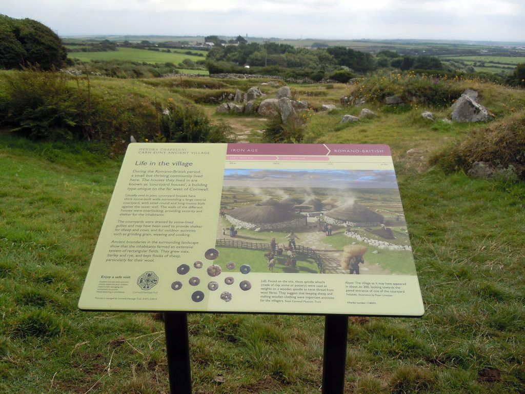 Free site panel at Carn Euny, Cornwall