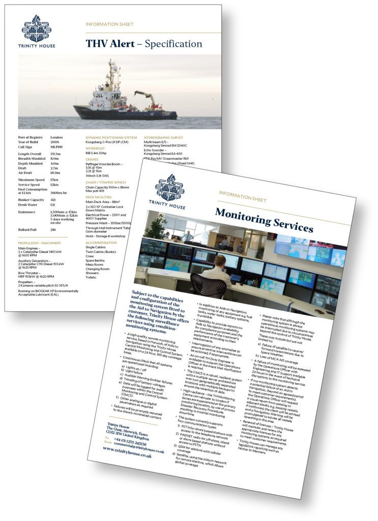 Examples from Trinity House's new range of information sheets