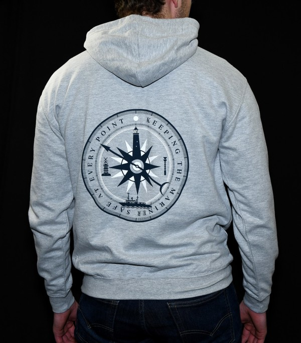 'Keeping the Mariner Safe' compass illustration for hoodie