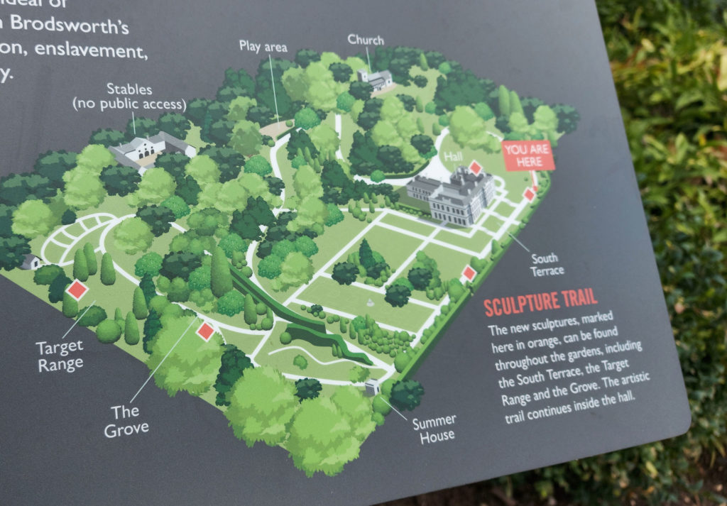A map was created to orientate visitors and locate artworks around the grounds